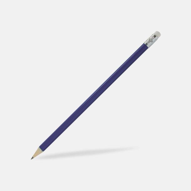 Blå Blyertspennor som kan expresslevereras med reklamtryck