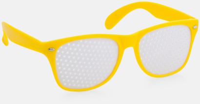 Gul Solglasögon med tryck direkt på glaset