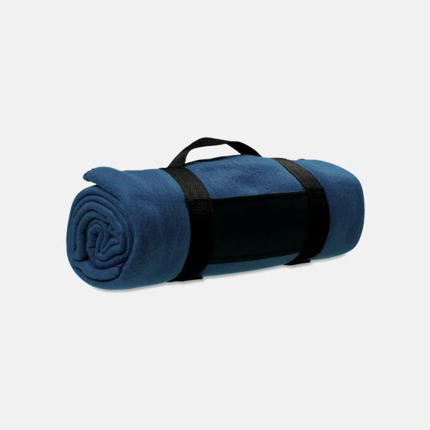 Marinblå Filtar med tryck