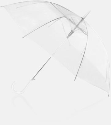 Genomskinliga paraplyer med reklamtryck