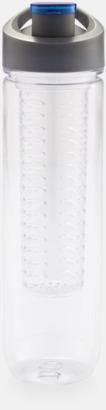 Blå BPA-fria vattenflaskor med fruktbehållare med reklamtryck