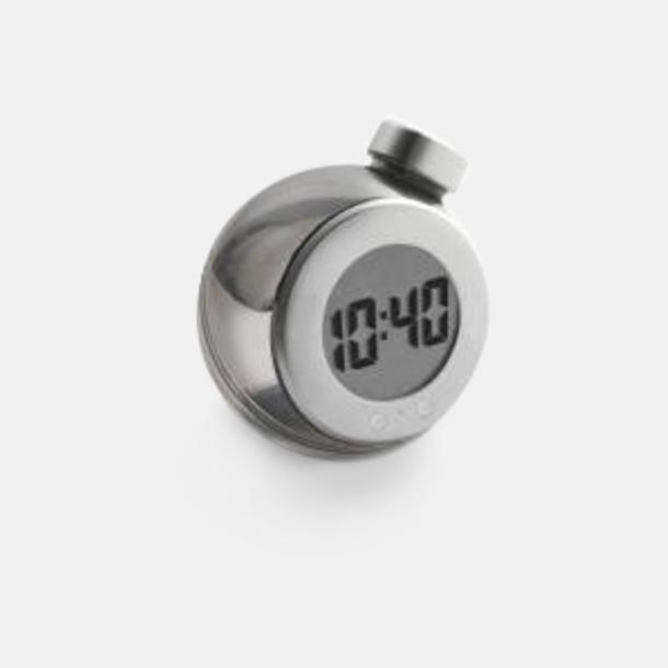 Svart Vattendrivna klockor med reklamtryck