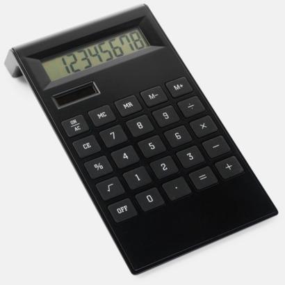 Svart Stilren miniräknare med tryck