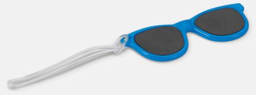 Blå Brickor formade som solglasögon med reklamtryck