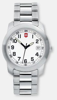 Vit urtavla - rostfritt stålarmband Victorinox Klockor