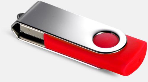 Röd (485C) USB Minne Twist