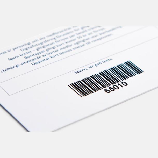 Plastkort med reklamtryck
