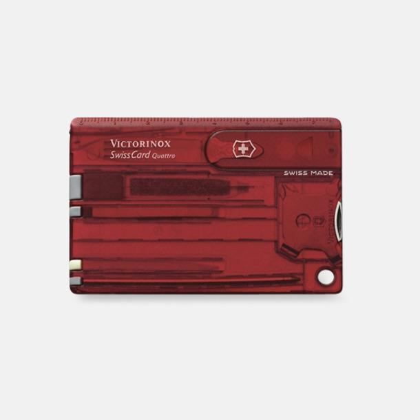 Transparent Röd Victorinox SwissCard Quattro