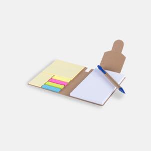 Förslutningsbara notisblock med reklamtryck