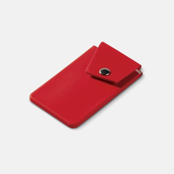 Röd Mobilfickor med knäppning - med reklamtryck