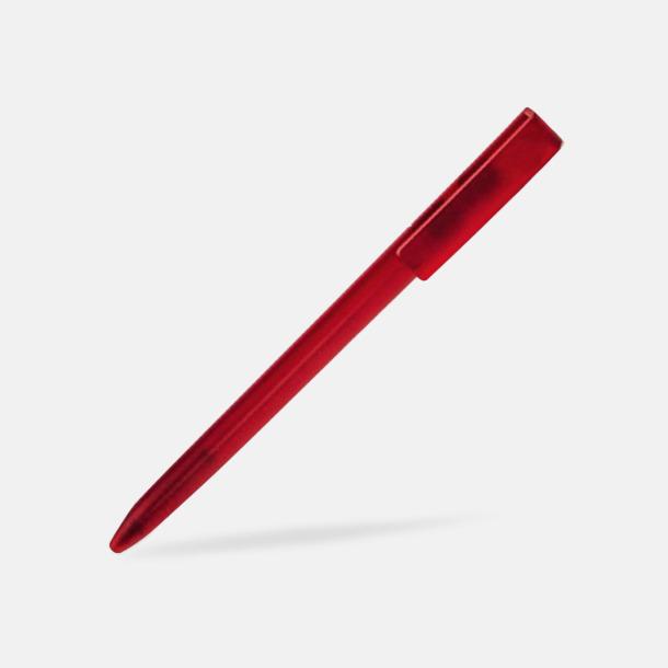 Vinröd Plastpennor i lätt transparenta färger med reklamtryck