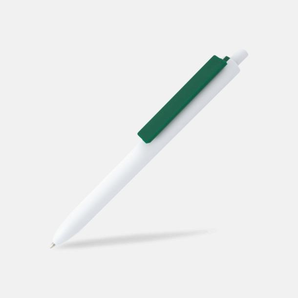 Vit / Mörkgrön Läckra bläckpennor med reklamtryck
