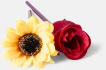 Ros- eller solrosformade pennor med reklamtryck
