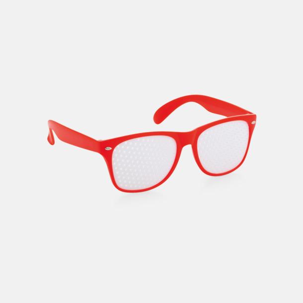 Röd Solglasögon med tryck direkt på glaset