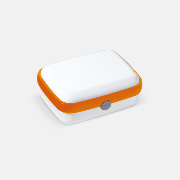 Vit/Orange Vita lunchlådor med reklamtryck