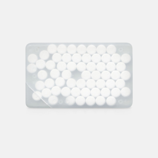Vit transparent Fresh Card med eget tryck