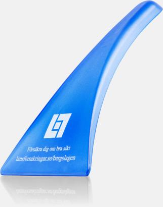 Blå (transparent) Ergonomisk isskrapa med tryck