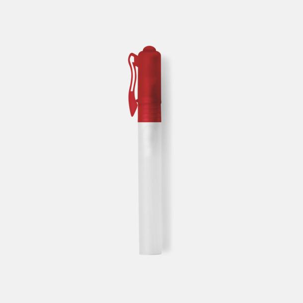Röd Bakteriedödande handsprit med reklamtryck
