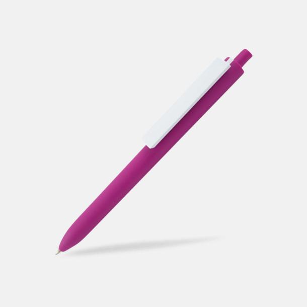 Magenta / Vit Läckra bläckpennor med reklamtryck