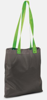 Grå/Ljusgrön Grå eller vita kassar med färgade handtag - med reklamtryck