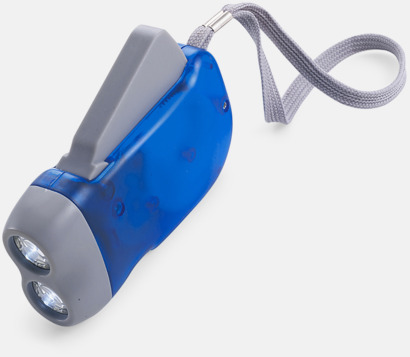 Blå / Ljusgrå Ficklampor med tryck