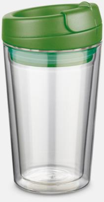 Mörkgrön 27 cl take away glas med reklamtryck