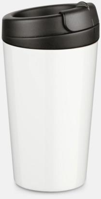 Svart 27 cl take away plastglas med reklamtryck