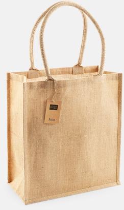 Shoppingbagar i jute med reklamtryck