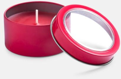 Röd Vaniljedotande värmeljus med reklamtryck