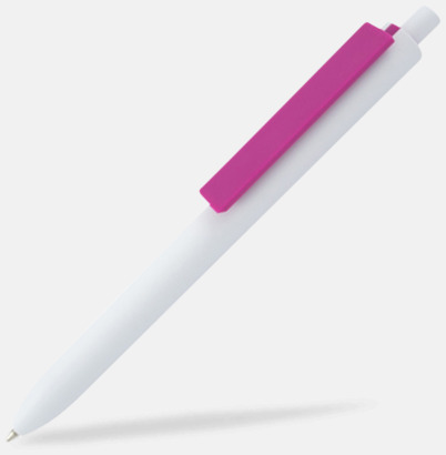 Vit / Magenta Läckra bläckpennor med reklamtryck