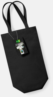 Svart Vinpåsar i Fairtrade-certifierad bomull med reklamtryck