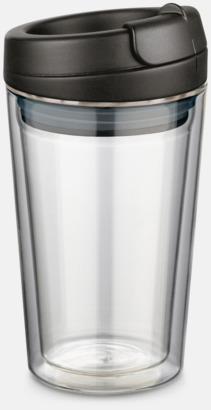 Svart 27 cl take away glas med reklamtryck