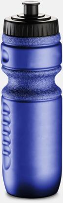 Metallic blå Sportflaskor med reklamtryck