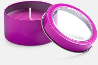 Lila Vaniljedotande värmeljus med reklamtryck
