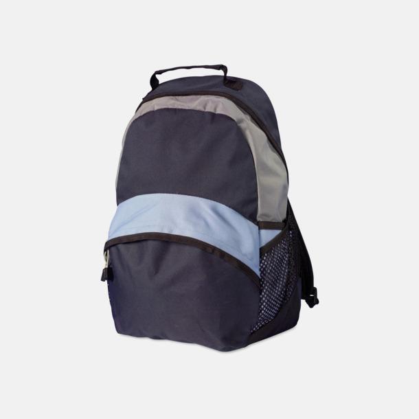 Mörkgrå / Ljusblå Ryggsäckar med eget tryck