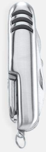 Silver / Svart Fickknivar med gravyr