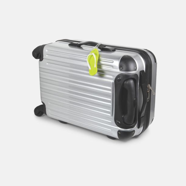 Flipflop formade bagagebrickor med reklamtryck