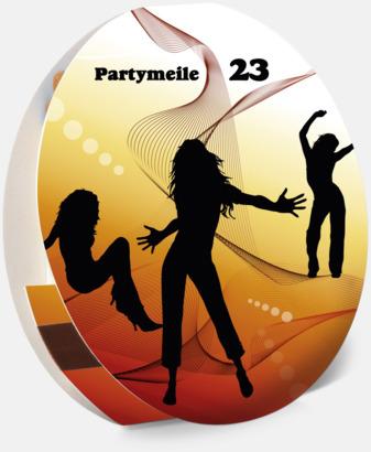 Stor (20 st) Runda tändsticksfodral med 10 eller 20 stickor - med reklamtryck