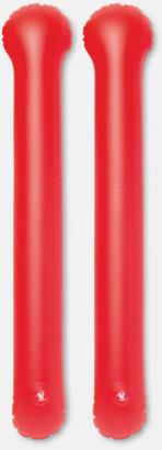 Röd Roliga, uppblåsbara trumpinnar med reklamtryck