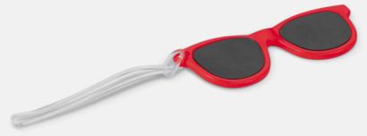 Röd Brickor formade som solglasögon med reklamtryck