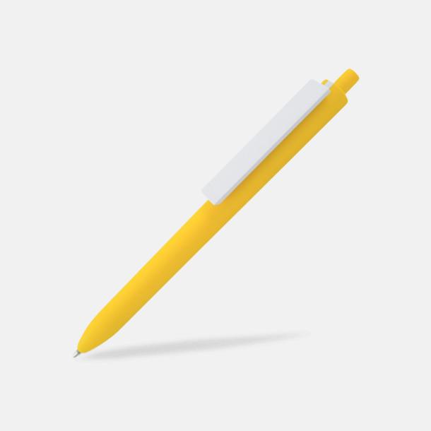 Gul / Vit Läckra bläckpennor med reklamtryck