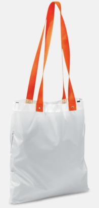 Vit/Orange Grå eller vita kassar med färgade handtag - med reklamtryck