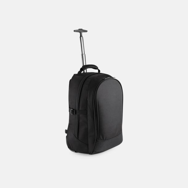 Svart 28 liters-kabinväska med reklamtryck