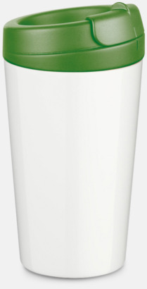 Mörkgrön 27 cl take away plastglas med reklamtryck