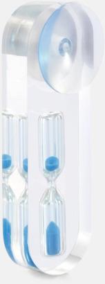 Baksida Stilrent designad duschtimer med reklamtryck