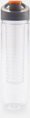 Orange BPA-fria vattenflaskor med fruktbehållare med reklamtryck