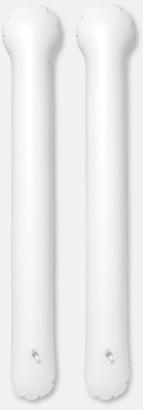 Vit Roliga, uppblåsbara trumpinnar med reklamtryck