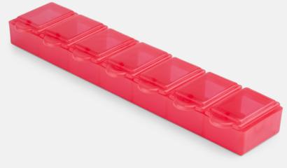 Röd Avlånga, genomskinliga tablettboxar med reklamtryck