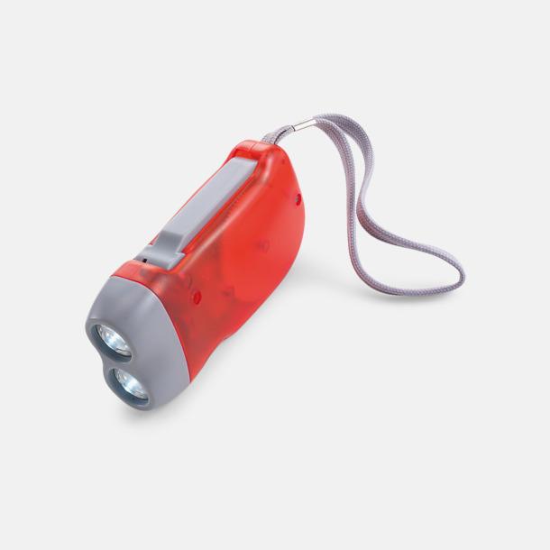 Röd / Ljusgrå Ficklampor med tryck