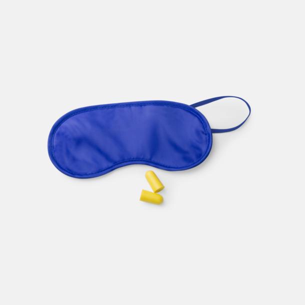Blå Sovmask & öronproppar med reklamtryck